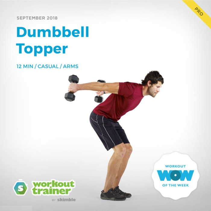 Workout Trainer by Skimble: Pro Workout of the Week: Dumbbell Topper
