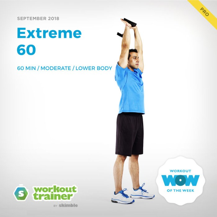 Workout Trainer by Skimble: Pro Workout of the Week: Extreme 60