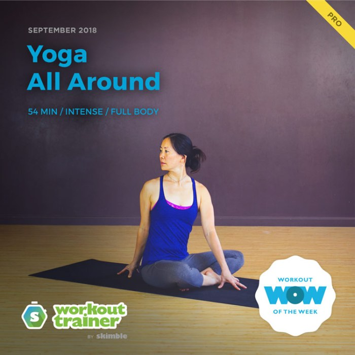 Workout Trainer by Skimble: Pro Workout of the Week: Yoga All Around