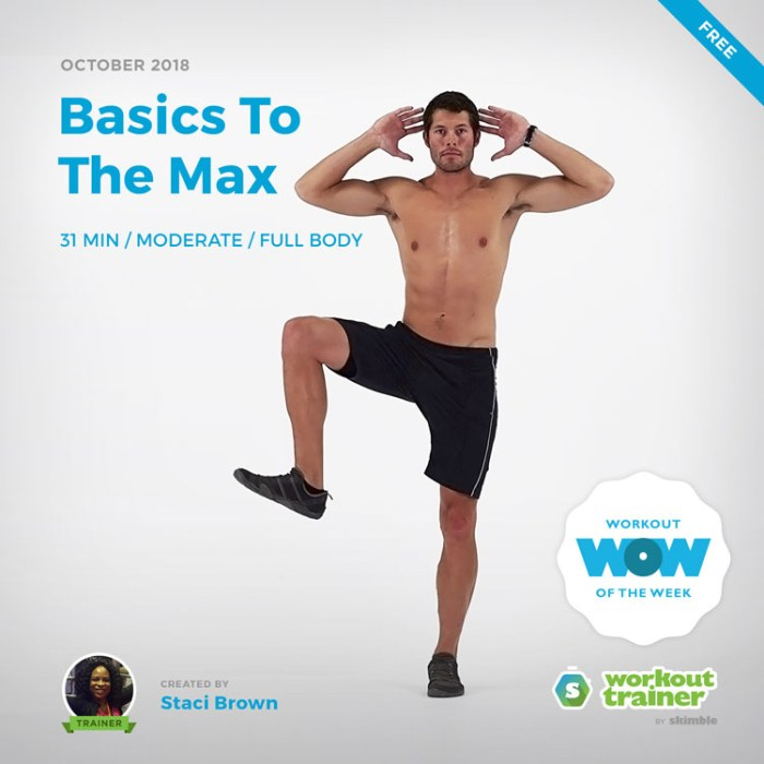 Workout Trainer by Skimble: Free Workout of the Week: Basics To The Max by Staci Brown