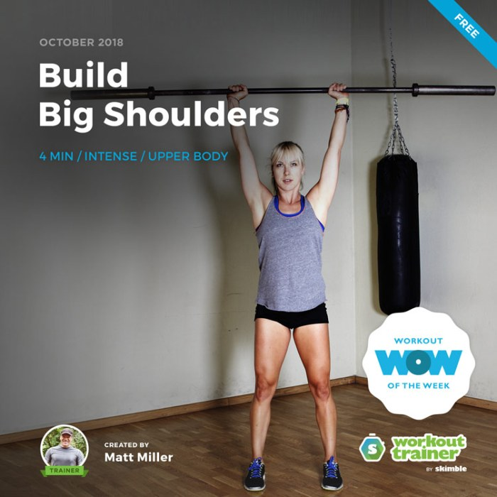Workout Trainer by Skimble: Free Workout of the Week: Build Big Shoulders by Matt Miller