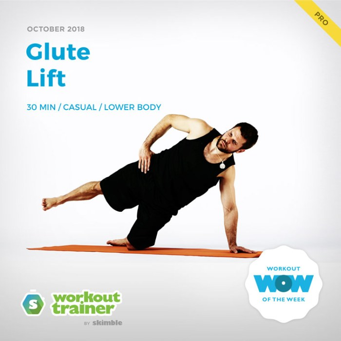 Workout Trainer by Skimble: Pro Workout of the Week: Glute Lift
