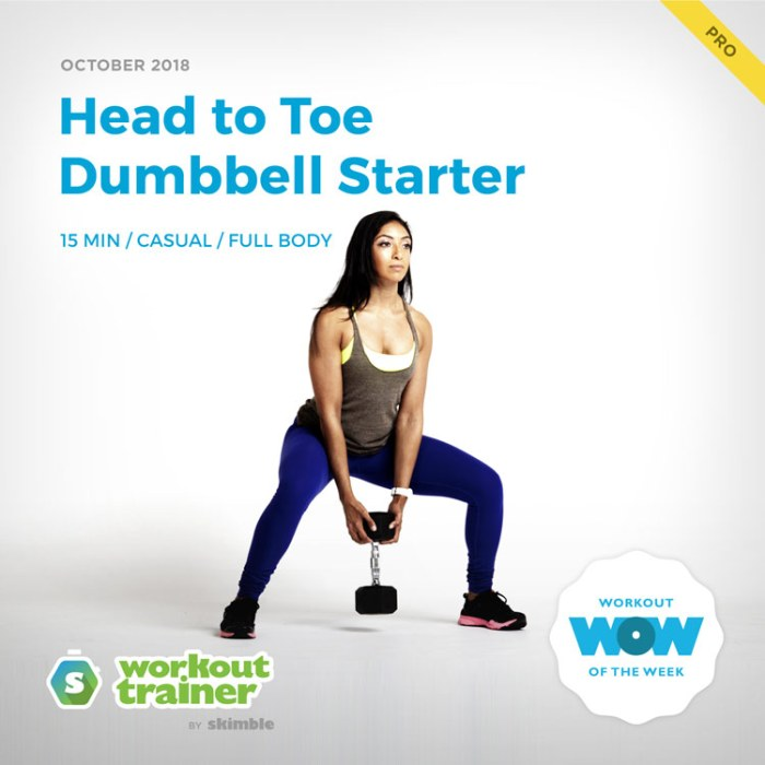 Workout Trainer by Skimble: Pro Workout of the Week: Head to Toe Dumbbell Starter