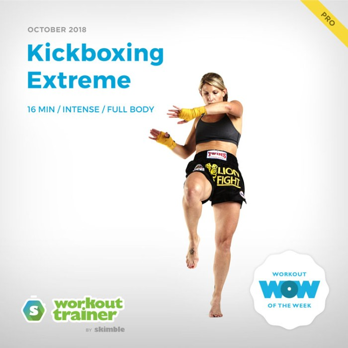 Workout Trainer by Skimble: Pro Workout of the Week: Kickboxing Extreme