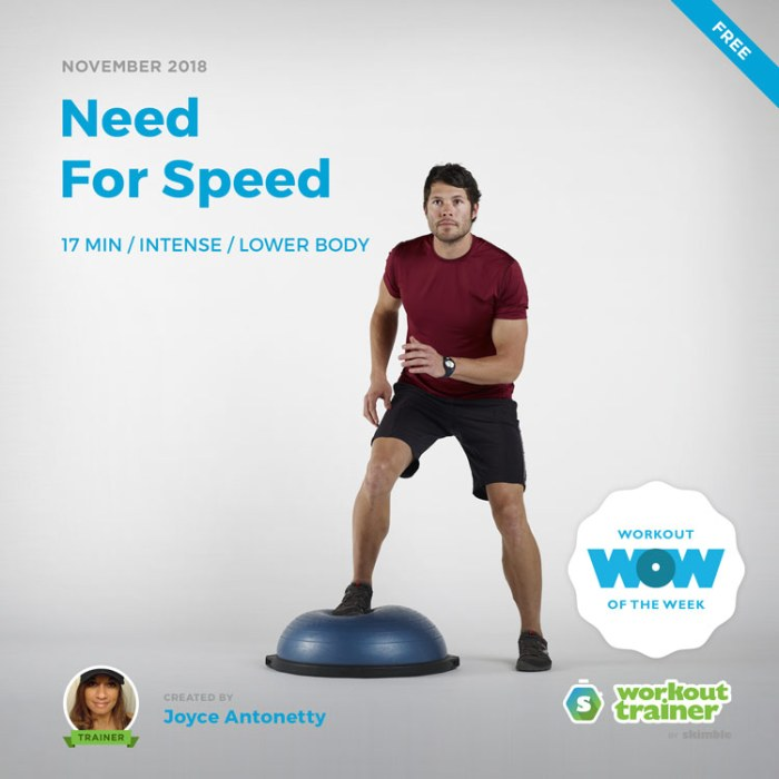 Workout Trainer by Skimble: Free Workout of the Week: Need For Speed by Joyce Antonetty