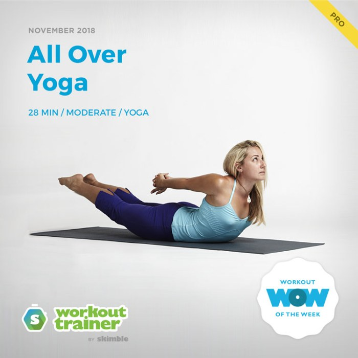 Workout Trainer by Skimble: Pro Workout of the Week: All Over Yoga