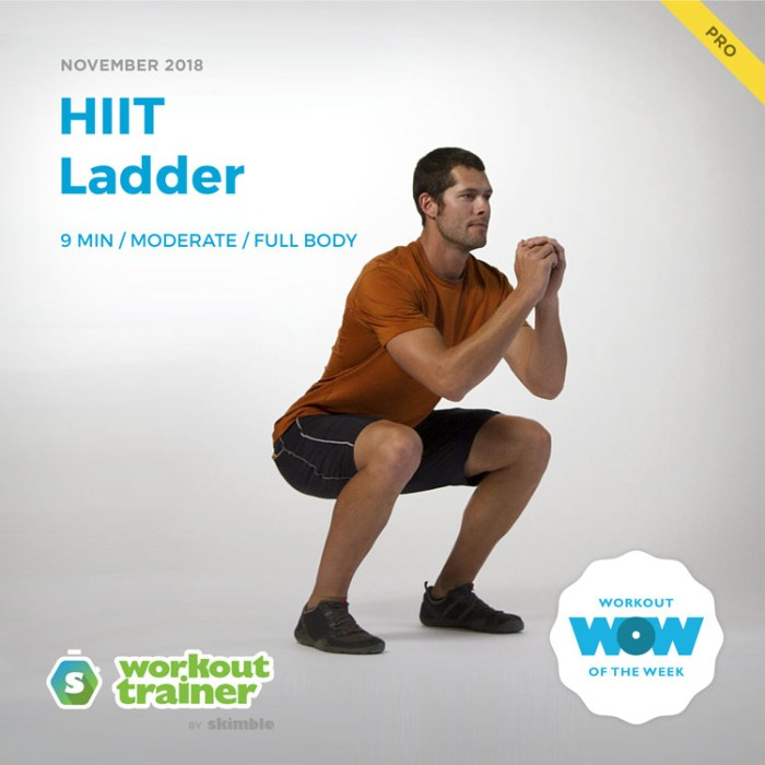 Workout Trainer by Skimble: Pro Workout of the Week: HIIT Ladder