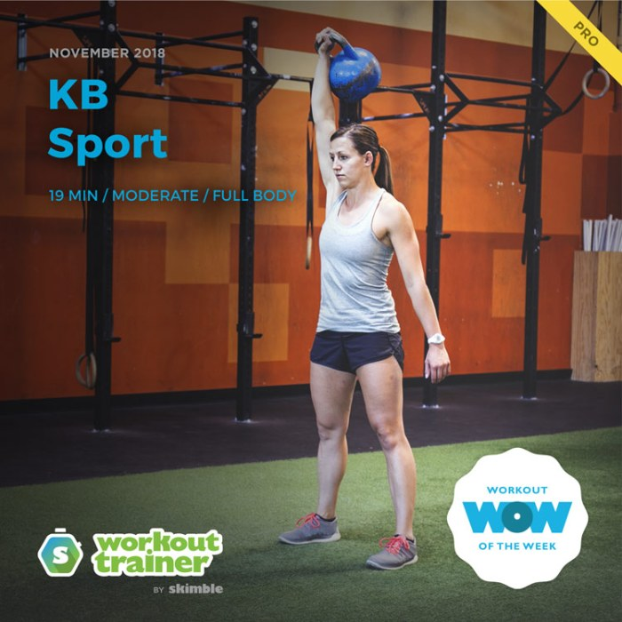 Workout Trainer by Skimble: Pro Workout of the Week: KB Sport