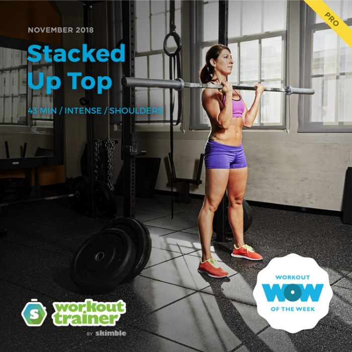 Workout Trainer by Skimble: Pro Workout of the Week: Stacked Up Top