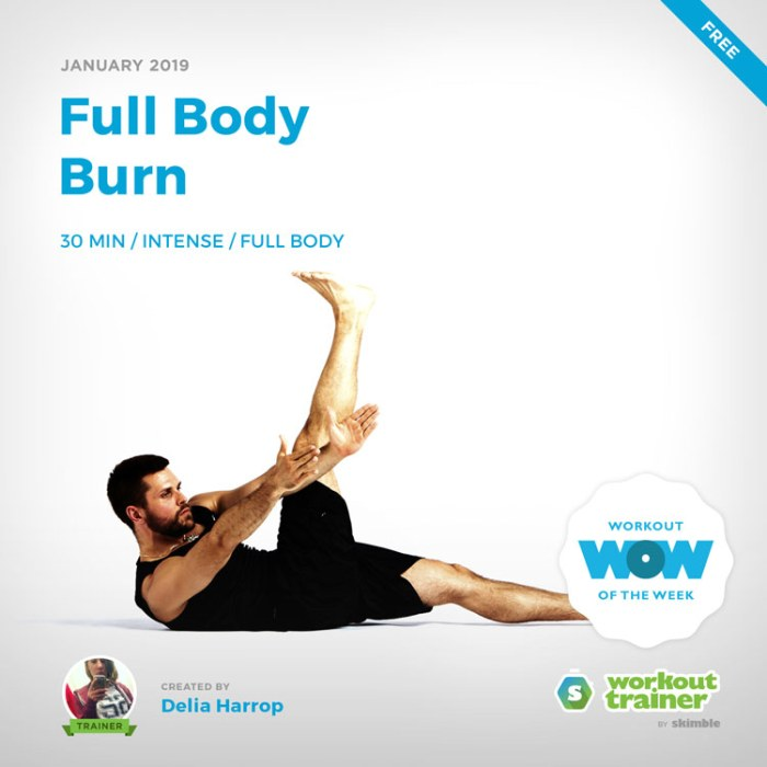 Workout Trainer by Skimble: Free Workout of the Week: Full Body Burn by Delia Harrop