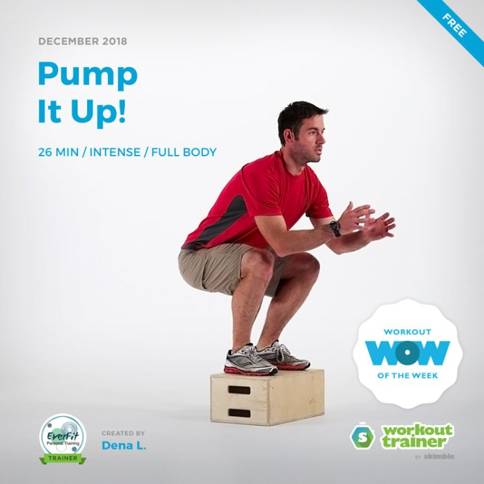 Workout Trainer by Skimble: Free Workout of the Week: Pump It Up! by Dena Lauer