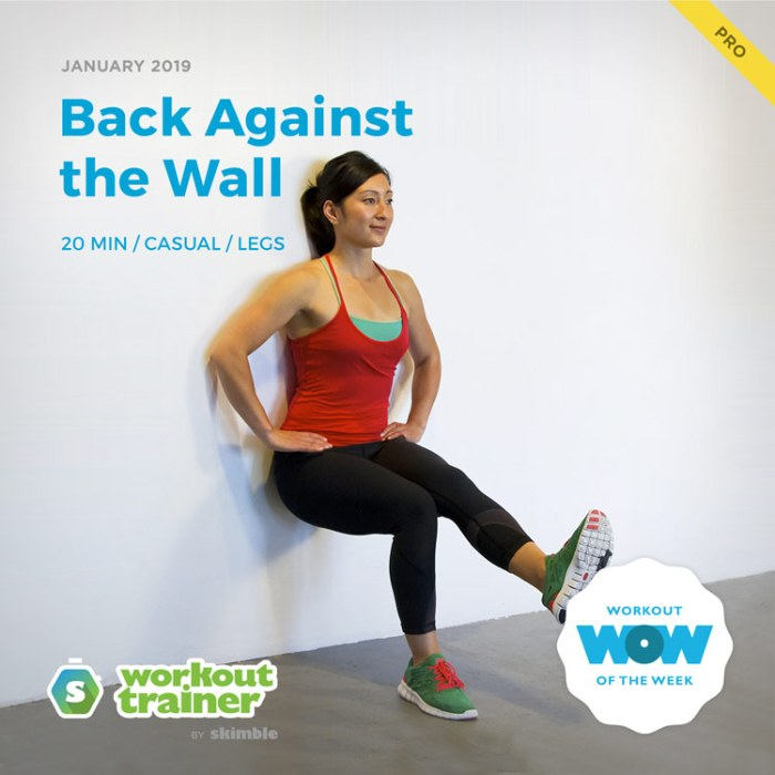 Workout Trainer by Skimble: Pro Workout of the Week: Back Against the Wall