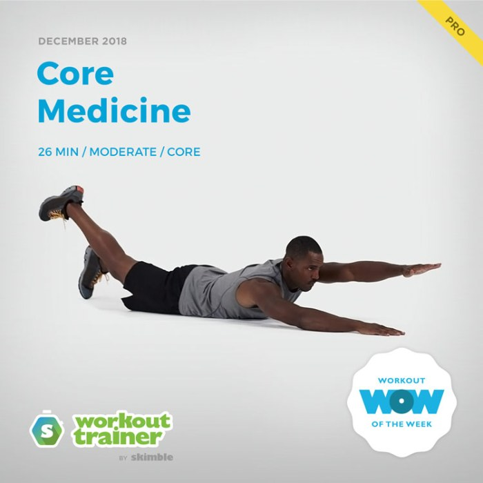 Workout Trainer by Skimble: Pro Workout of the Week: Core Medicine