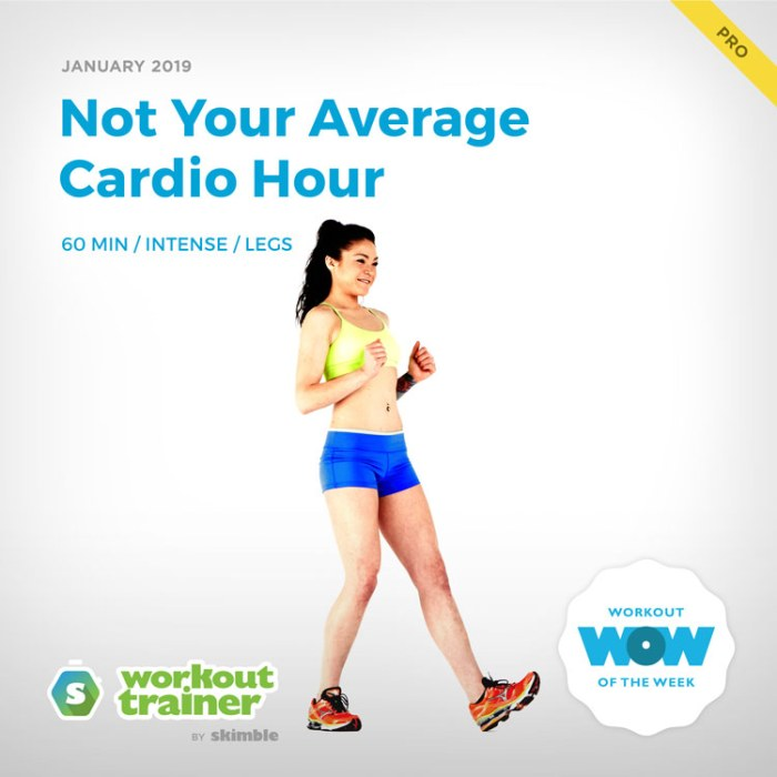 Workout Trainer by Skimble: Pro Workout of the Week: Not Your Average Cardio Hour