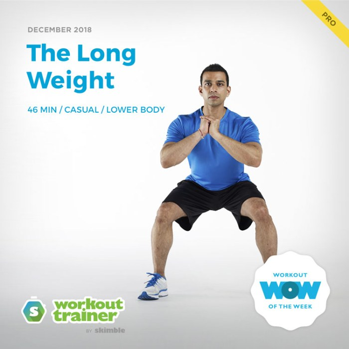 Workout Trainer by Skimble: Pro Workout of the Week: The Long Weight
