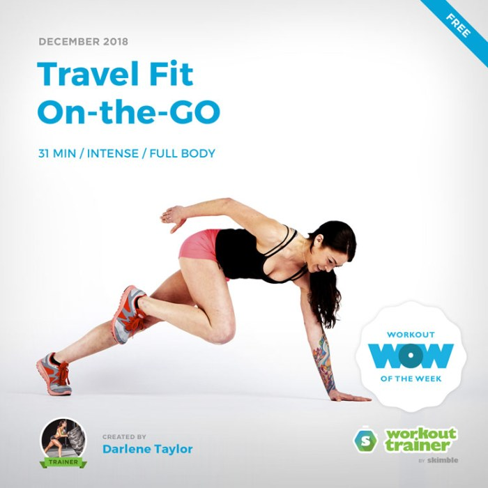 Workout Trainer by Skimble: Free Workout of the Week: Travel Fit On-the-GO by Darlene Taylor