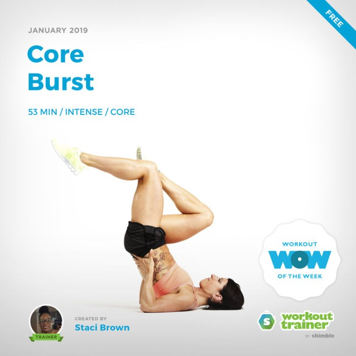 Workout Trainer by Skimble: Free Workout of the Week: Core Burst by Staci Brown