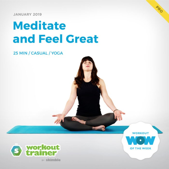Workout Trainer by Skimble: Pro Workout of the Week: Meditate and Feel Great
