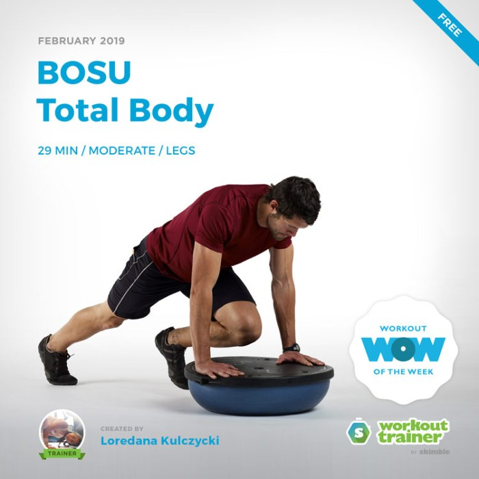 Workout Trainer by Skimble: Free Workout of the Week: BOSU Total Body by Loredana Kulczycki