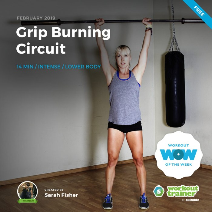 Workout Trainer by Skimble: Free Workout of the Week: Grip Burning Circuit by Sarah Fisher