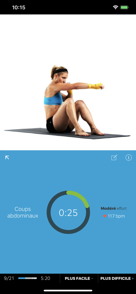 Workout Trainer launches in French: Les Entraînements