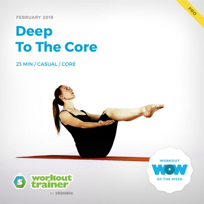 Workout Trainer by Skimble: Pro Workout of the Week: Deep To The Core