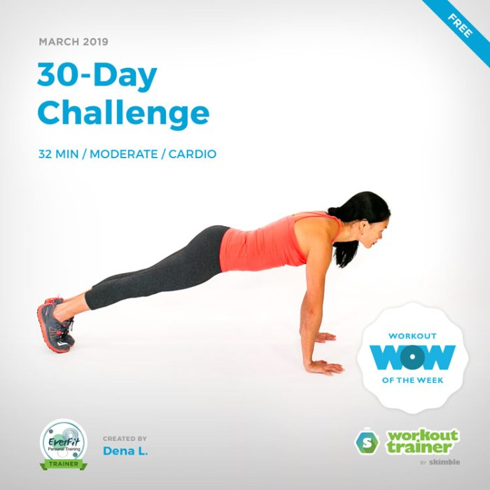 Workout Trainer by Skimble: Free Workout of the Week: 30-Day Challenge