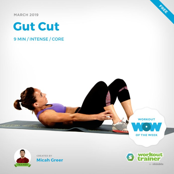 Workout Trainer by Skimble: Free Workout of the Week: Gut Cut by Micah Greer