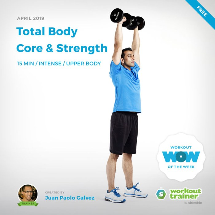 Workout Trainer by Skimble: Free Workout of the Week: Total Body Core and Strength by Juan Paolo Galvez