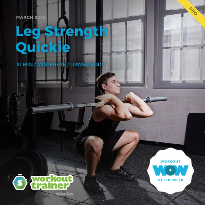 Workout Trainer by Skimble: Pro Workout of the Week: Leg Strength Quickie