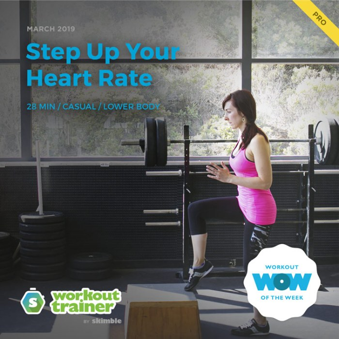 Workout Trainer by Skimble: Pro Workout of the Week: Step Up Your Heart Rate