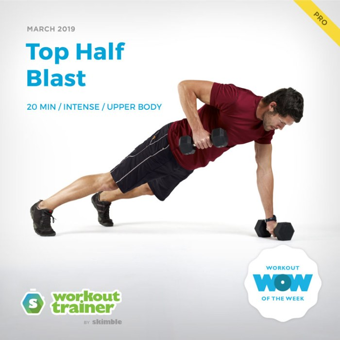 Workout Trainer by Skimble: Pro Workout of the Week: Top Half Blast