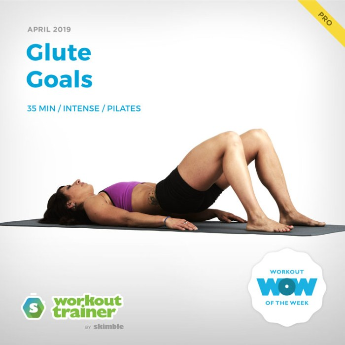 Workout Trainer by Skimble: Pro Workout of the Week: Glute Goals