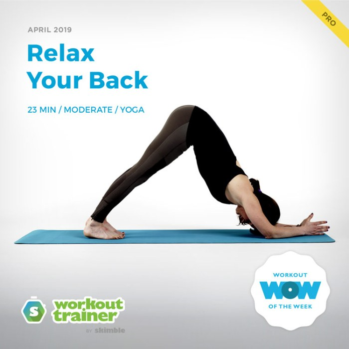 Workout Trainer by Skimble: Pro Workout of the Week: Relax Your Back