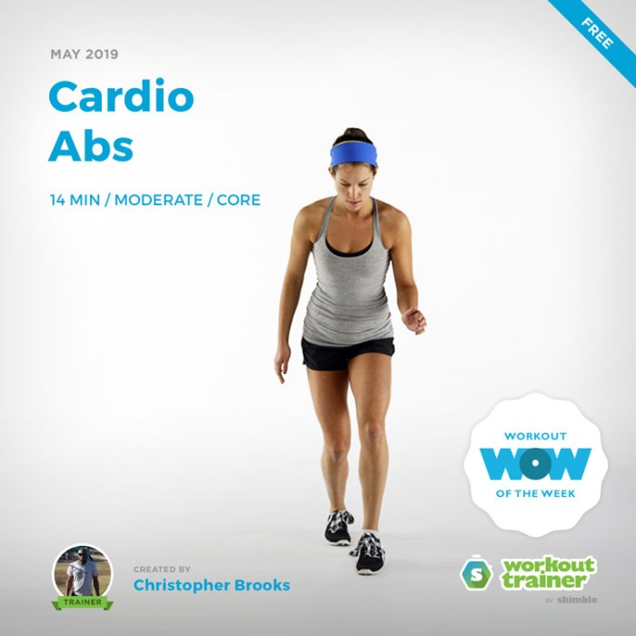 Workout Trainer by Skimble: Free Workout of the Week: Cardio Abs