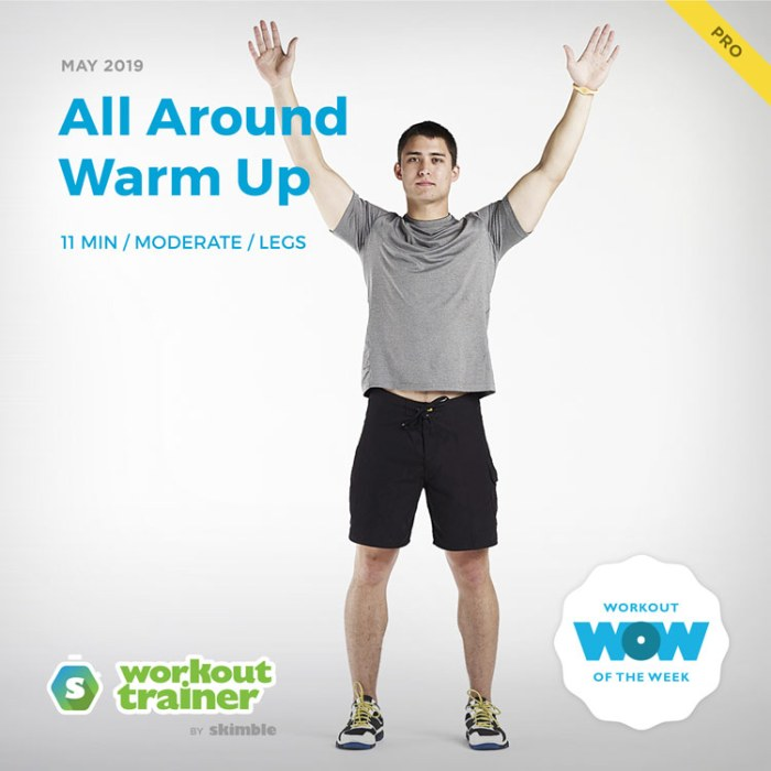 Workout Trainer by Skimble: Pro Workout of the Week: All Around Warm Up