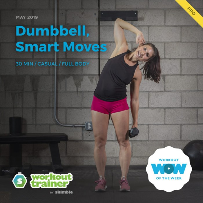 Workout Trainer by Skimble: Pro Workout of the Week: Dumbbell, Smart Moves