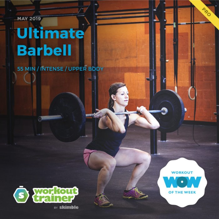 Workout Trainer by Skimble: Pro Workout of the Week: Ultimate Barbell