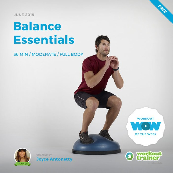Workout Trainer by Skimble: Free Workout of the Week: Balance Essentials by Joyce Antonetty
