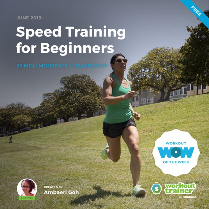 Workout Trainer by Skimble: Free Workout of the Week: Speed Training for Beginners by Ambaeri Goh