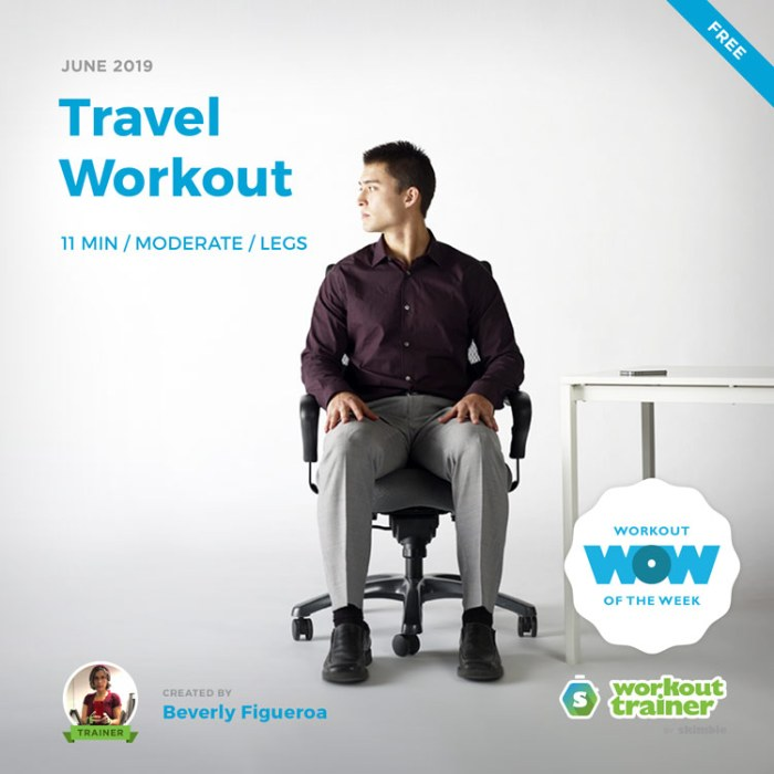 Workout Trainer by Skimble: Free Workout of the Week: Travel Workout by Beverly Figueroa