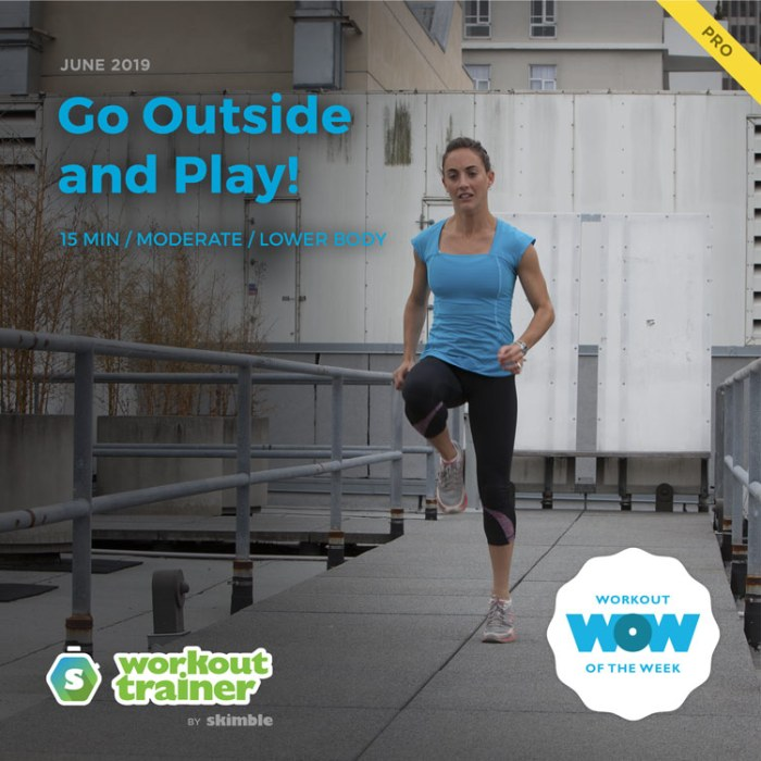 Workout Trainer by Skimble: Pro Workout of the Week: Go Outside and Play!
