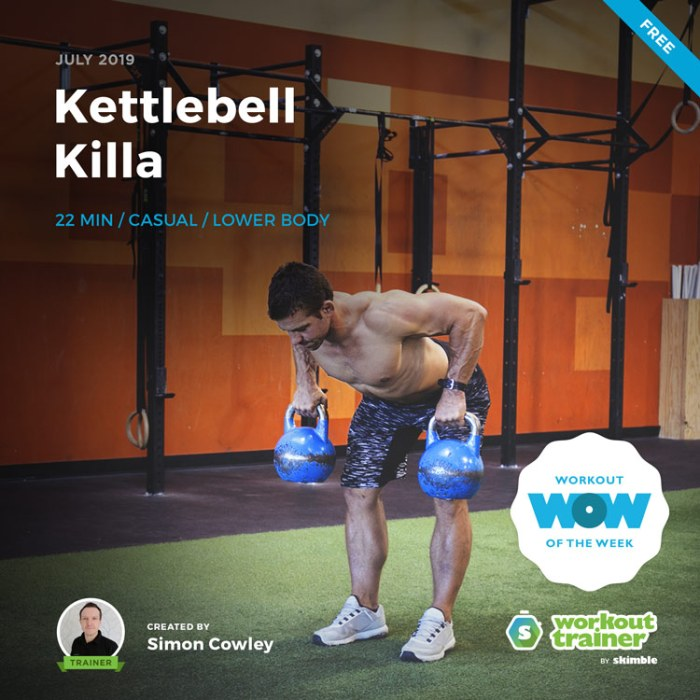 Workout Trainer by Skimble: Free Workout of the Week: Kettlebell Killa by Simon Cowley