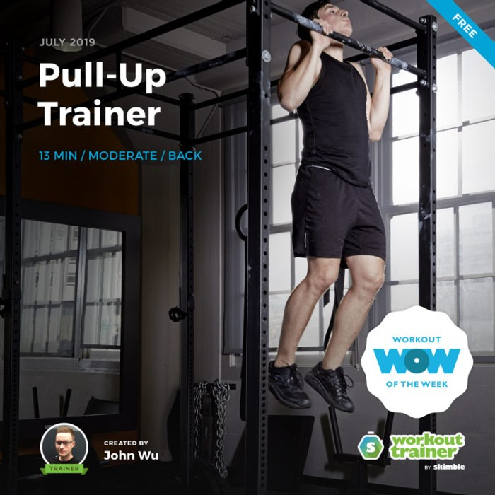 Workout Trainer by Skimble: Free Workout of the Week: Pull-Up Trainer by John Wu