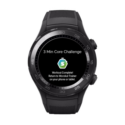 Workout Trainer by Skimble: Huawei Watch 2 smartwatch