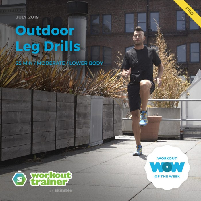 Workout Trainer by Skimble: Pro Workout of the Week: Outdoor Leg Drills