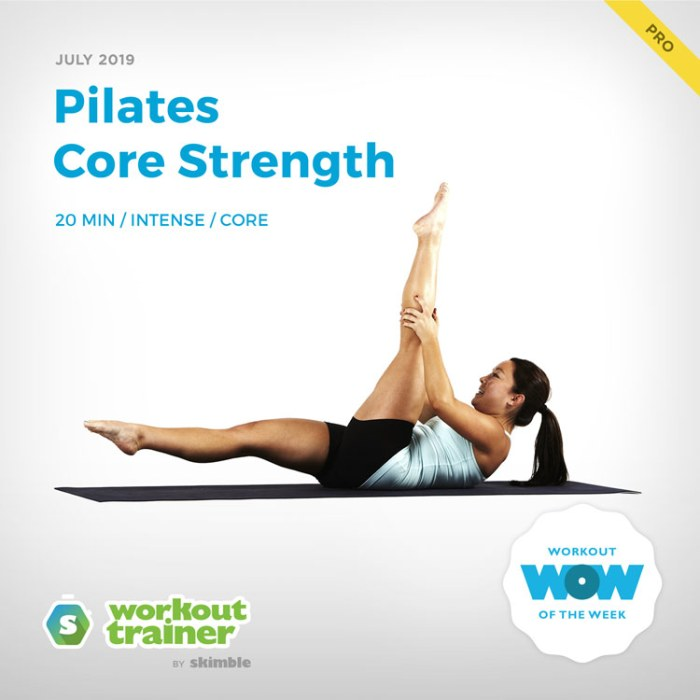 Workout Trainer by Skimble: Pro Workout of the Week: Pilates Core Strength