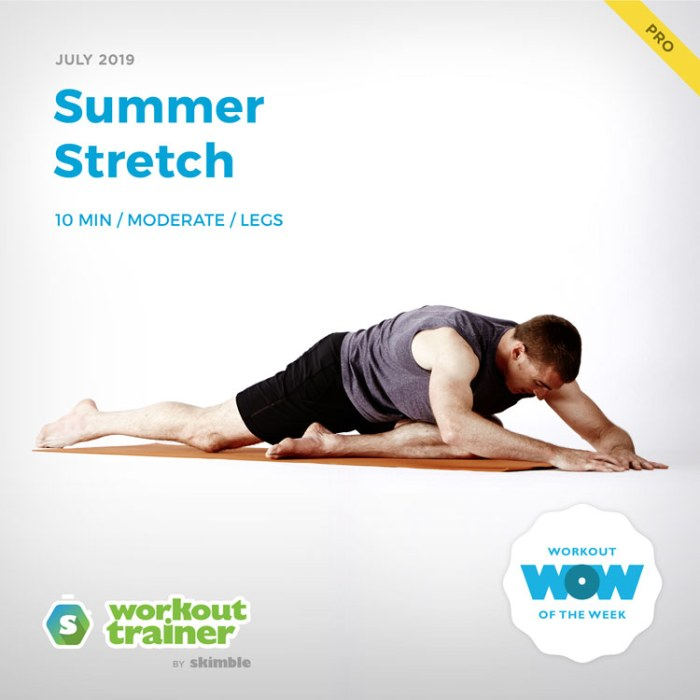 Workout Trainer by Skimble: Pro Workout of the Week: Summer Stretch
