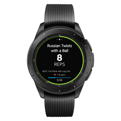 Workout Trainer by Skimble: Samsung Gear Sport