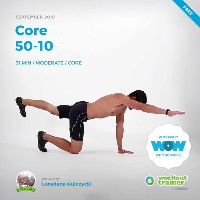 Workout Trainer by Skimble: Free Workout of the Week: Core 50-10 by Loredana Kulczycki